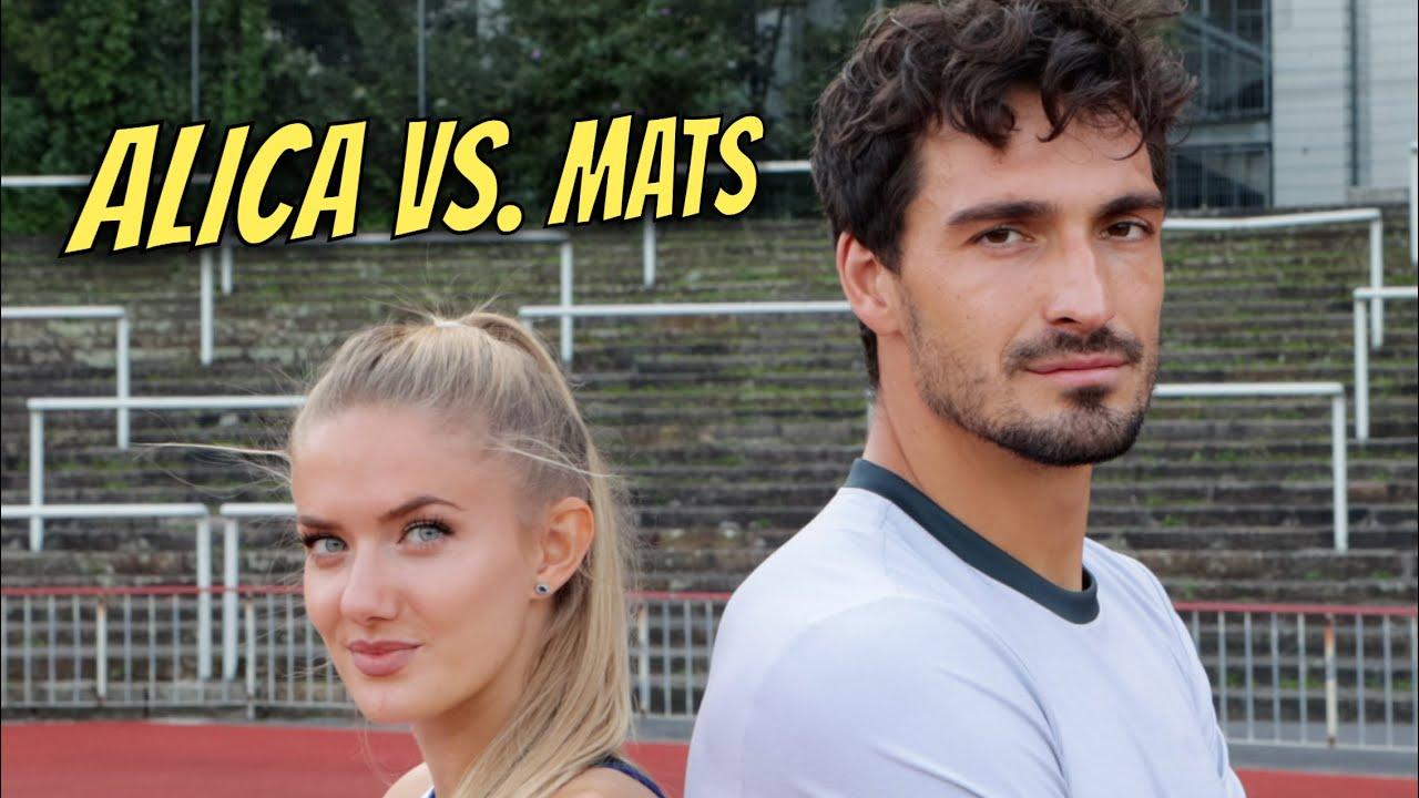 Alica Schmidt vs. Mats Hummels - 400m Race