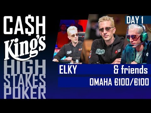 Cash Kings | High Stakes poker with ELKY and Ronny Kaiser | Omaha | Kings Casino 2017  | Day 1