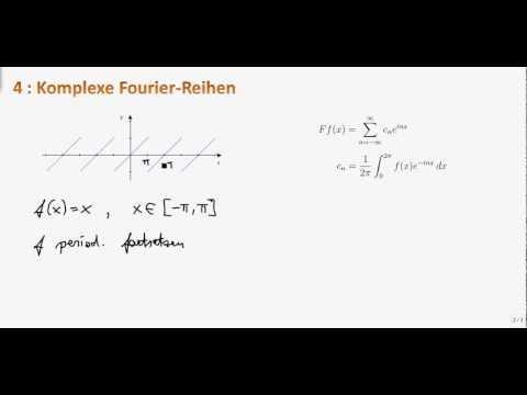 Mathe Ii 4 3 Komplexe Fourier Reihen Youtube