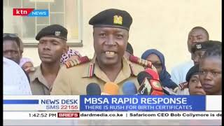 Mombasa RRI launched in a bid to speed up issuance of certificates