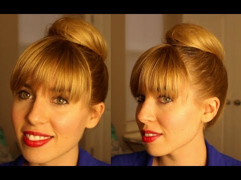 Chic Top Knot Bun With Bangs Hairstyles for Long Hair