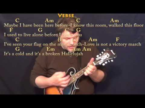 Hallelujah (Rufus Wainwright) Mandolin Cover Lesson with Chords ...