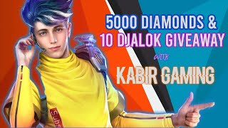 [LIVE]🇮🇳ALOK GIVEAWAY || 1000+ Diamond Giveaway || FREE FIRE LIVE || FULL CUSTOM ROOMS WITH KABIR YT