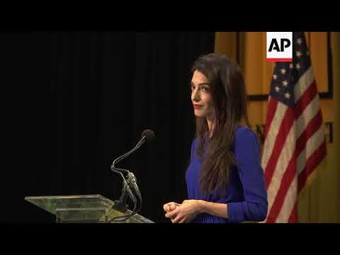 Human rights lawyer, Amal Clooney, tells grads to be courageous