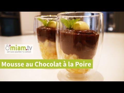 mousse-au-chocolat-&-poire-caramélisée---dessert-lÉger-&-gourmand