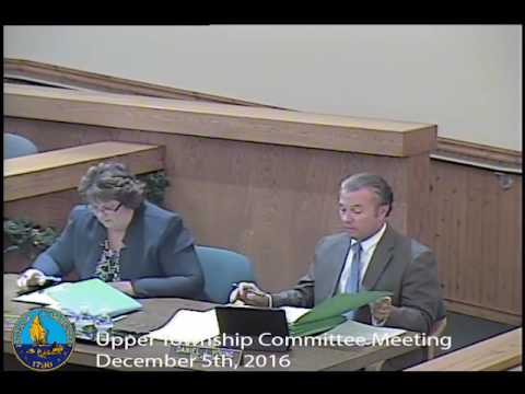 Upper Township Committee Meeting 12/5/16
