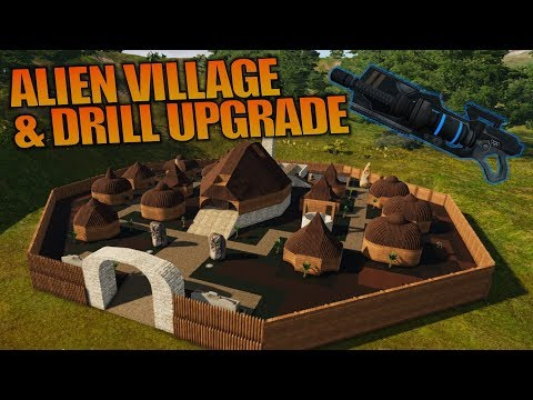 ALIEN VILLAGE & DRILL UPGRADE   Empyrion: Galactic Survival   Let's Play Gameplay   S12E05
