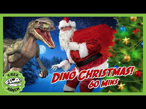 Christmas Dinosaurs for Kids! Santa Claus Holiday Special at T-Rex Ranch with Mystery Dinosaur