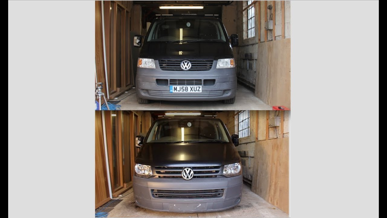 vw t5 to t5 1 front end facelift step by step guide [ 1280 x 720 Pixel ]