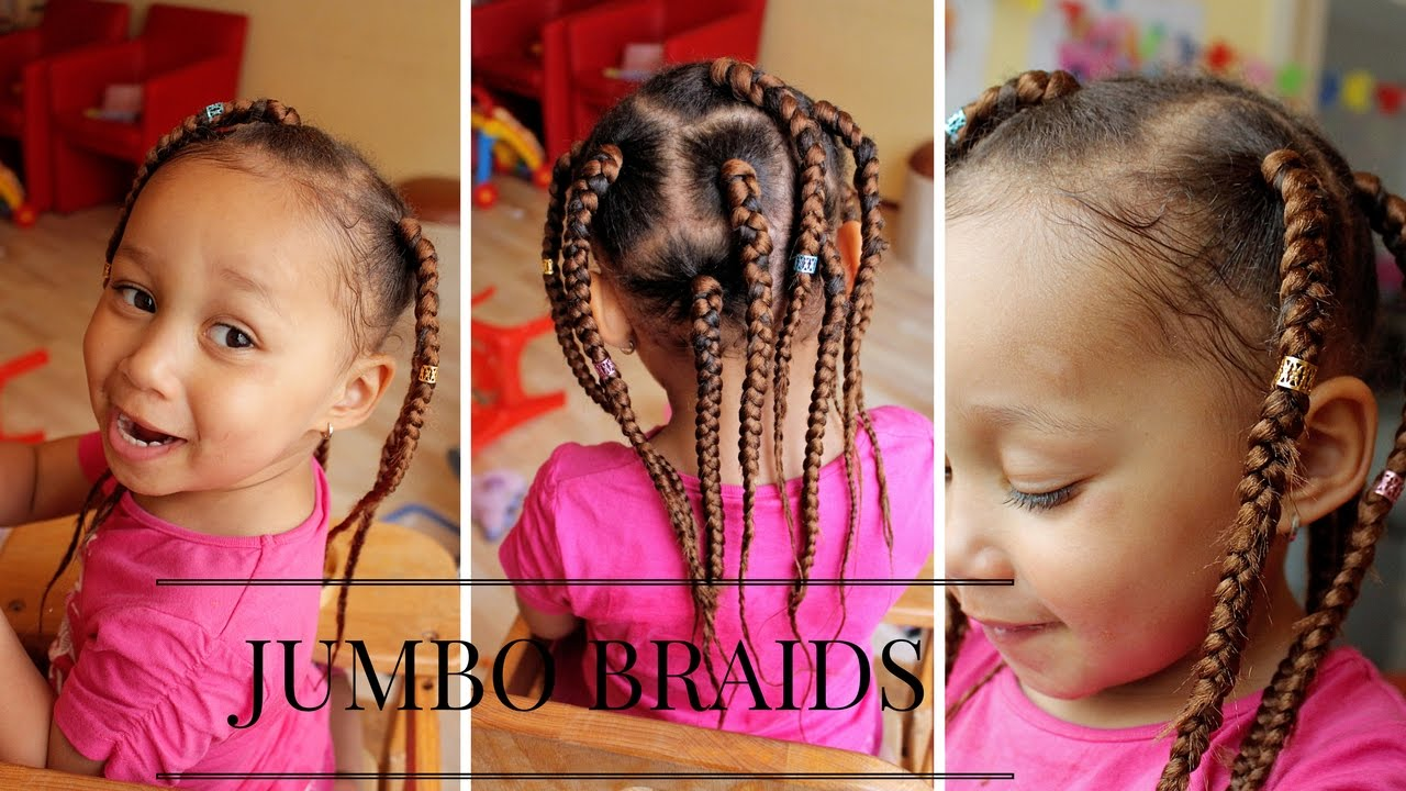 Jumbo Box Braids Tutorial Quick And Simple For Kids