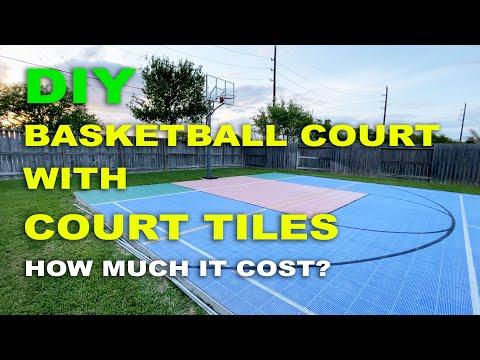 DIY BASKETBALL COURT - SPORT COURT TILES - HOW MUCH IT COST?