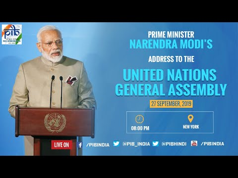PM Narendra Modi's address to the United Nations General Assembly, in New York