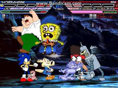 MUGEN Request: Team Spongebob Place Mario Vs Team VanceTheVHSGuy (4v4 Simul)