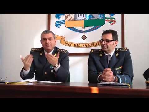 Alfonso Amaturo, comandante della Guardia di Finanza di Viterbo, presenta il calendario