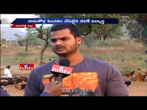 B Tech Student Vamshidhar Turns Into a Successful Farmer | 'Natu Kodi' Farming | HMTV