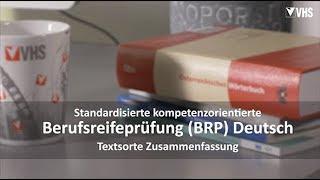 VHS – Berufsreifeprüfung Deutsch