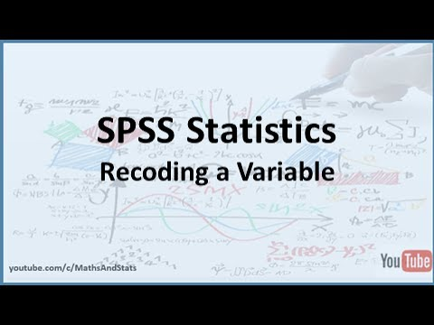 spss how to recode a variable within spss youtube. Black Bedroom Furniture Sets. Home Design Ideas