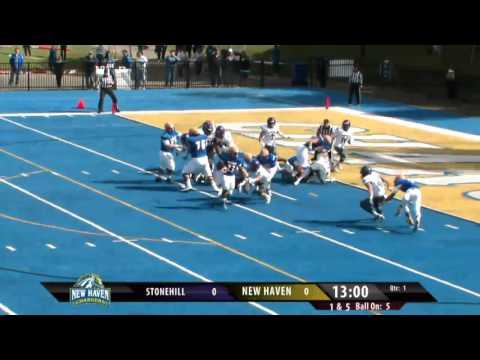 New Haven Football Highlights vs. Stonehill College
