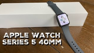 Apple Watch Series 5 40mm GPS Unboxing, Setup and First Look