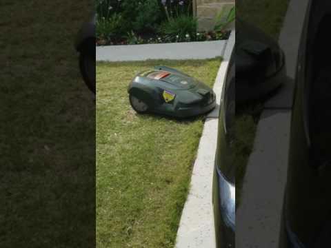 Swedish auto lawn mower