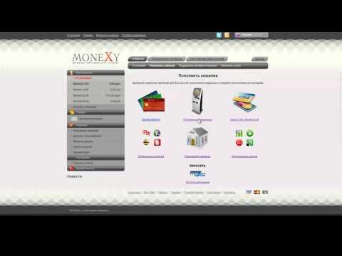 Пополнение счета MoneXy через Евросеть