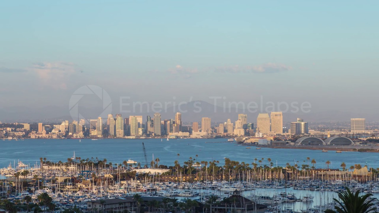 San Diego Skyline Day To Night Sunset SD00306