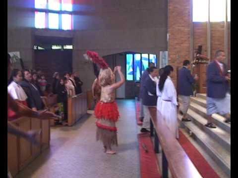 Catholic Samoan Offertory (Taulaga) St. Joseph's Grey Lynn, Auckland, New Zealand