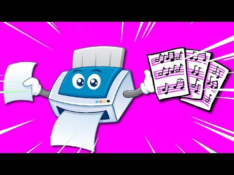 Printing Sheet Music needs MAGENTA INK!?!