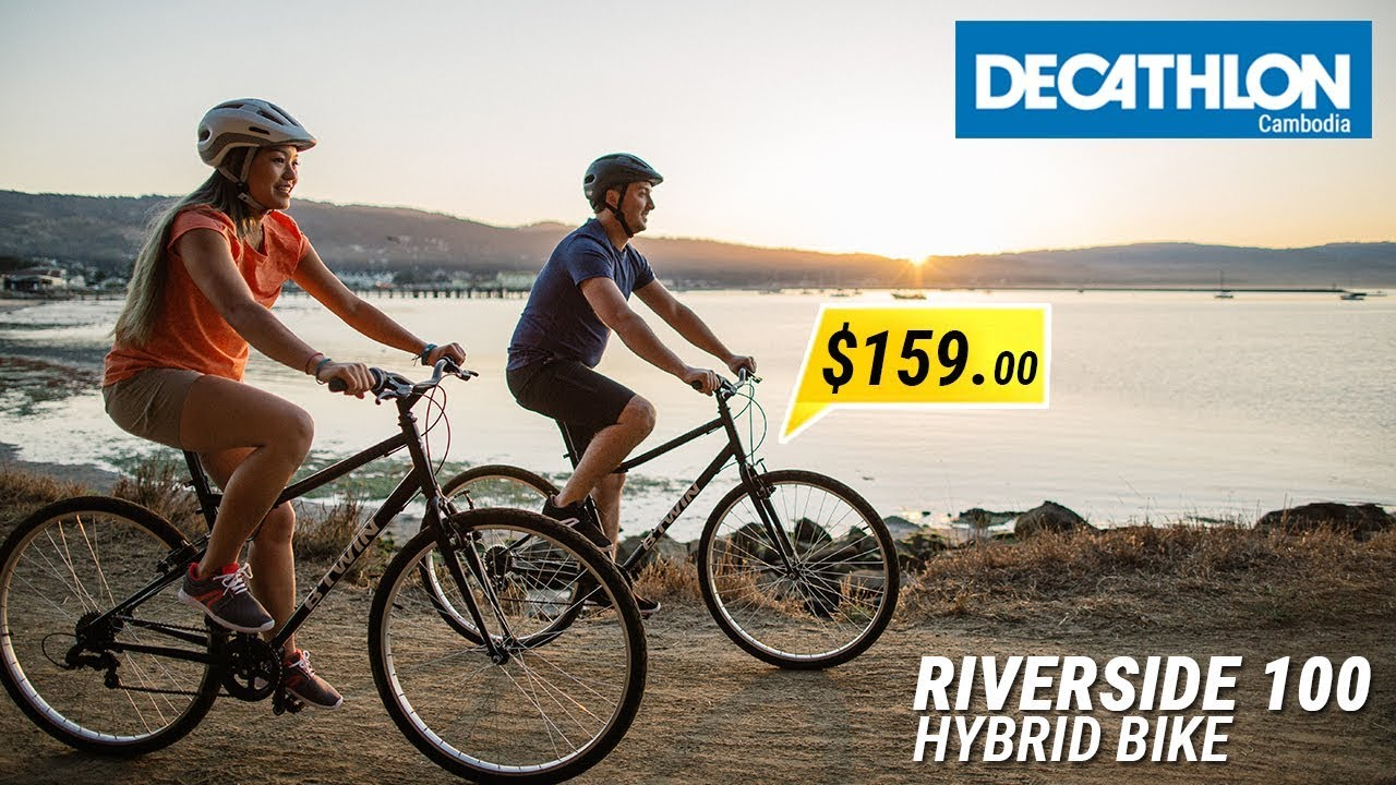 95ee3a149 Decathlon Cambodia  RiverSide 100 Hybrid Bike - YouTube