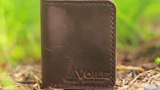 Мужской кожаный кошелек ручной работы VOILE mw3 brn купить в Украине. Обзор