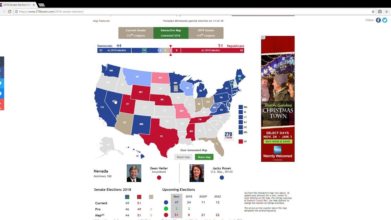 2018 Senate Election Predictions: Alabama Fall Out, And