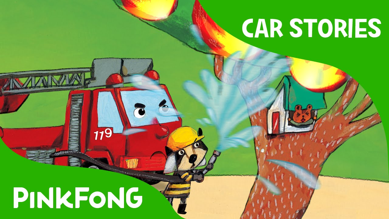 lils reds first fire car stories pinkfong story time for children youtube