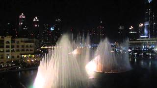The Dubai Fountain - Baba Yetu (2013)