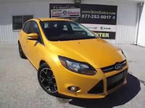 2012 Ford Focus Titanium Yellow 6 2692 For Sale