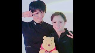 Evgenia Medvedeva and Yuzuru Hanyu