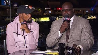 Kevin Durant Joins The Crew Postgame | Warriors vs Rockets Game 3 | Inside The NBA | May 20, 2018