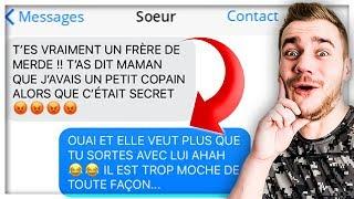 LES SMS ENTRE FRÈRE ET SŒUR LES PLUS DRÔLES !