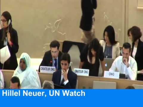 EU walks out on anti-Israel UN debate * Arab states outraged * Hillel Neuer speaks out