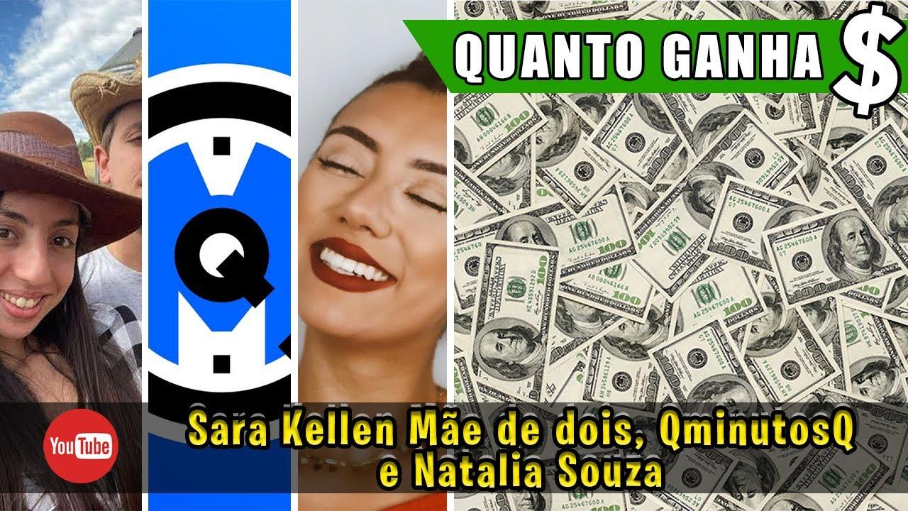 TOP 3 - QUANTO GANHA YOUTUBERS? (2021) - (Sara Kellen Mãe de dois, QminutosQ e Natalia Souza)
