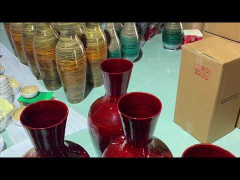 Spun Bamboo Lacquer Vase Vietnam Products