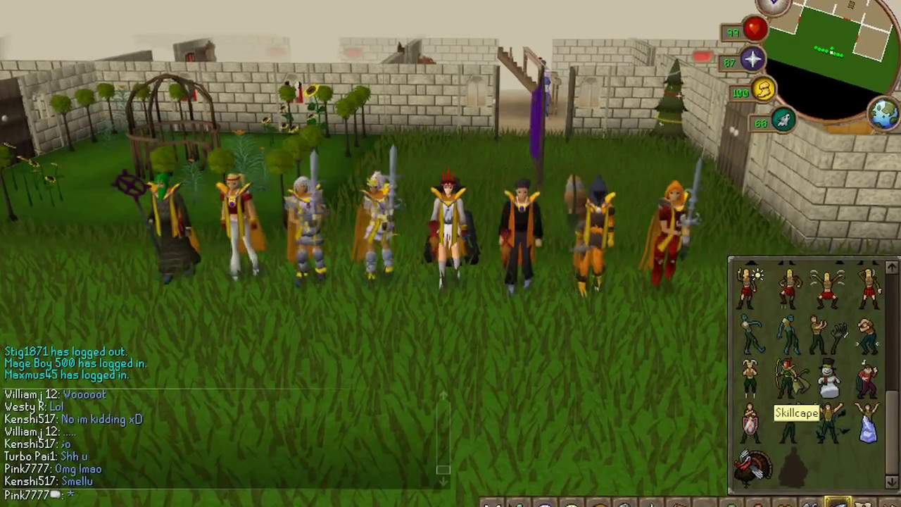 Runescape 99 firemaking party pink7777 youtube for Runescape exp table 1 99