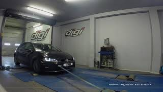 VW Golf 7 TDI 150cv DSG Reprogrammation Moteur @ 195cv Digiservices Paris 77 Dyno