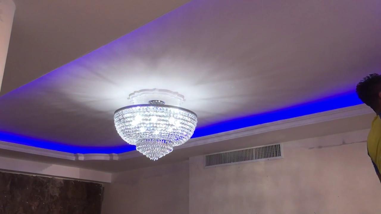 Molduras gypsum luces escondidas led dise os de gypsum for Modelos de techos para galerias