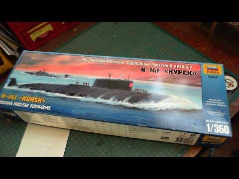 Zvezda 1/350 Russian Nuclear Submarine K-141KURSK Un-Boxing