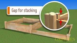 "Greenes ""how To Build Cedar Raised Garden Kit"""