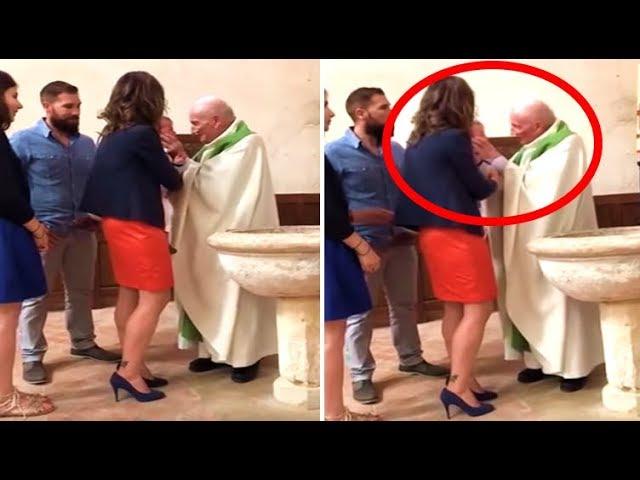 Priest Baptising Toddler, Loses Temper And Slaps It