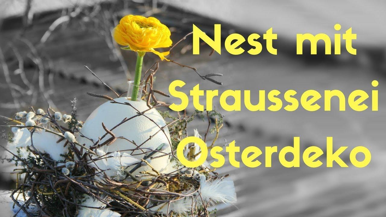 Osterdeko 2018   Osternest Mit Straussenei   Natur Pur. DIY Dekoideen Vom  Blumenmann