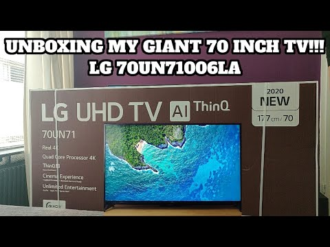 UNBOXING MY NEW 70 INCH LG 4K TV LG 70UN71006LA