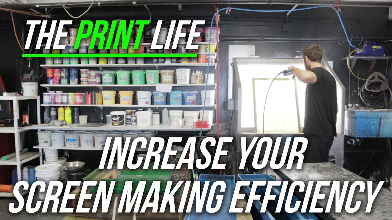 How to increase you screen making efficiency in your screen print shop.