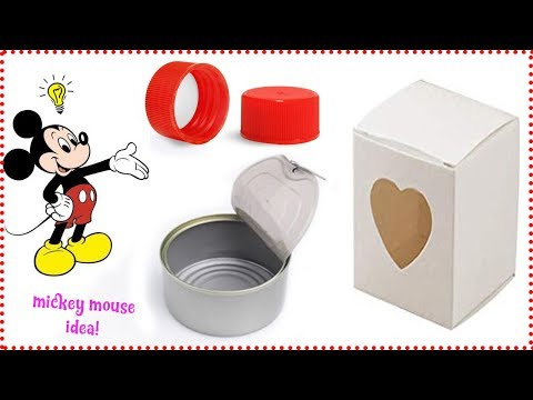3 MICKEY MOUSE IDEA WITH RECYCLED MATERIALS! ♻ ♥